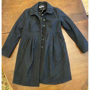Liz Lange Maternity Grey Wool Pea Coat Siz…